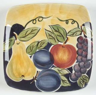 Tabletops Unlimited Di Frutto Salad Plate, Fine China Dinnerware   Grapes, Apple
