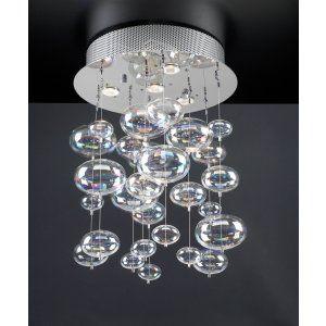 PLC Lighting PLC 96962 PC Bubbles Ceiling Light / 4 Light Halogen 120v. 50W
