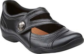 Womens Clarks Kessa Agnes   Black Leather Casual Shoes