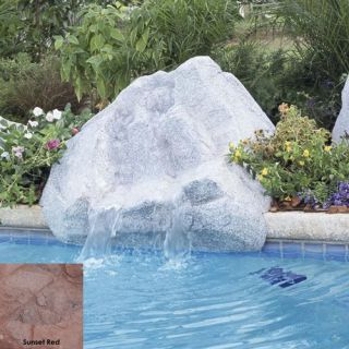 Interfab 420023 500 GPH Keystone Pool Side Waterfall, 45 x 38 x 21 Sunset Red