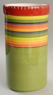 Hot Tamale Wine Cooler, Fine China Dinnerware   Red,Orange,Green,Yellow,Stripes,