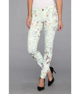 Paige Verdugo Ultra Skinny Wolf Print Womens Jeans (White)
