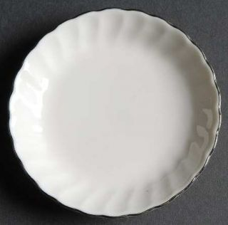 Syracuse Wedding Ring Butter Pat, Fine China Dinnerware   Silhouette Shape,White