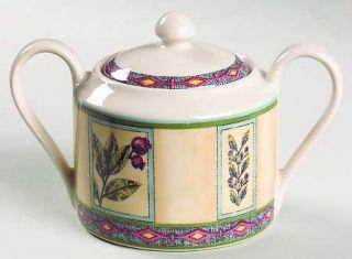 Interiors (PTS) Winslow Manor Sugar Bowl & Lid, Fine China Dinnerware   Stonewar