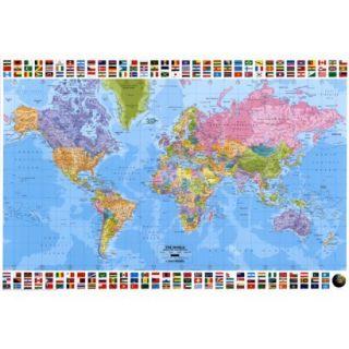 Art   World Map   Political Poster