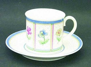 Villeroy & Boch Julie Flat Cup & Saucer Set, Fine China Dinnerware   Fine China,
