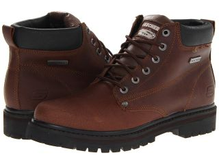 SKECHERS Tom Cats Bully Mens Work Boots (Brown)