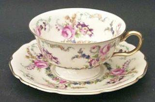 Rosenthal   Continental Linnie Lee Footed Cup & Saucer Set, Fine China Dinnerwar