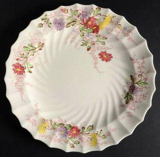 Spode Fairy Dell (Swirled) Dinner Plate, Fine China Dinnerware   Multicolor Flor