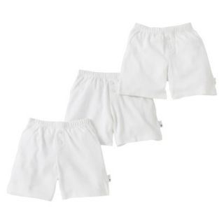 Burts Bees Baby Infant Toddler Boys 3 Pack Boxer Shorts   Dove White 2T