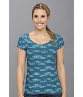 Columbia Rocky Ridge III Print Tee Womens T Shirt (Blue)