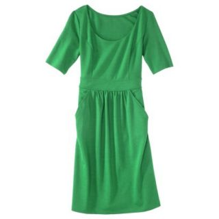 Merona Womens Ponte Elbow Sleeve Dress w/Pockets   Mahal Green   M