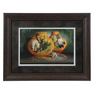Crestview Collection Eagle and Wolf Framed Wall Art   40.5W x 34.5H in.