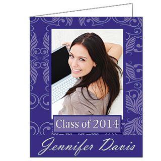 Trendy Damask Graduation Giant Greeting Cards