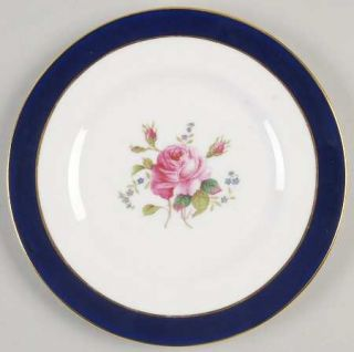 Coalport Fairfax Cobalt Blue Bread & Butter Plate, Fine China Dinnerware   Blue