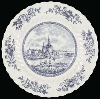 Johnson Brothers Tulip Time Blue (White Background) Dinner Plate, Fine China Din