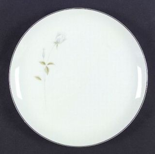 Executive House Cindy Dinner Plate, Fine China Dinnerware   White/Gray Rosebud,G