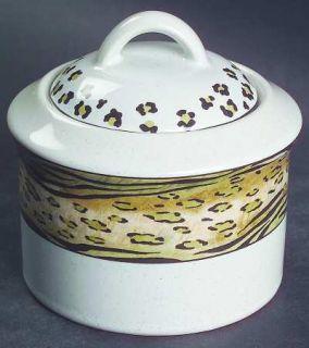 Studio Nova Jungle Beat Sugar Bowl & Lid, Fine China Dinnerware   Leopard&Tiger