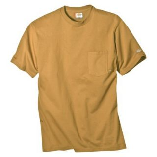 Dickies Mens Short Sleeve Pocket T Shirt with Wicking   Brown Duck XL