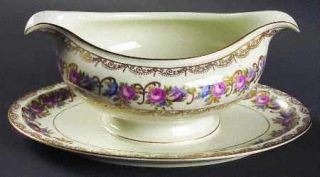 Rosenthal   Continental Vienna Gravy Boat with Attached Underplate, Fine China D