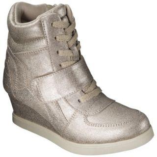 Girls Cherokee Harmony High Top Sneaker Wedge   Gold 13