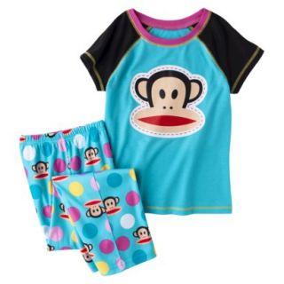 Paul Frank 2 Piece Short Sleeve Pajama Set   Blue M