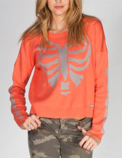 Domino Womens Sweater Coral In Sizes Medium, Small, X Small, Large, X Large