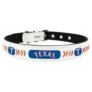 Texas Rangers Classic Leather Large Baseball Collar