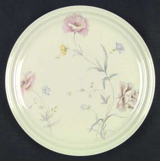 Home Beautiful Ambrosia Dinner Plate, Fine China Dinnerware   Wildflowers On Tan