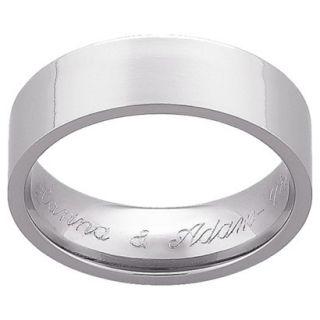 Personalized Titanium 7mm Flat Engraved Wedding Band  12