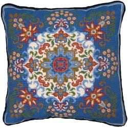 Mcg Textiles Blue Kaleidoscope Needlepoint Kit