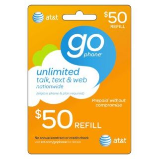 AT&T Mobility $50 Prepaid Gophone Card