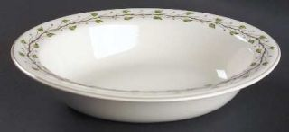 Wedgwood Green Leaf 9 Oval Vegetable Bowl, Fine China Dinnerware   QueenS Ware