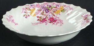 Spode Fairy Dell (Swirled) Coupe Cereal Bowl, Fine China Dinnerware   Multicolor