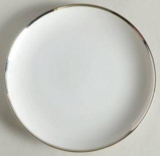 Society (Japan) Wedding Ring Salad Plate, Fine China Dinnerware   White & Platin