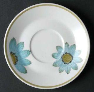 Noritake Up Sa Daisy Saucer, Fine China Dinnerware   Progression, Blue Daisies,