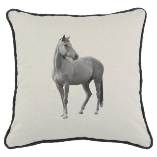 D Kei Inc DKei Horse Graphics Pillow Multicolor   P17 HOR01 NO BK