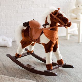 Charm Pinto Plush Rocking Horse with Sound Multicolor   82191