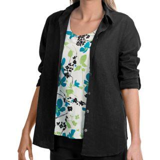 NTCO Veranda Weekend Tunic Shirt   Rayon Linen  Long Sleeve (For Women)   OFF WHITE (M )