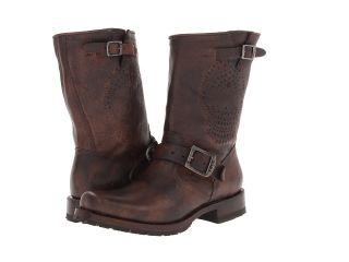 Frye Heath Skull Engineer Cowboy Boots (Brown)