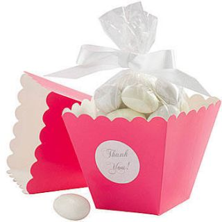Hot Pink Popcorn Box Favor Kit Set