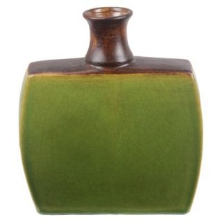 12 Drip Vase   Green/Brown