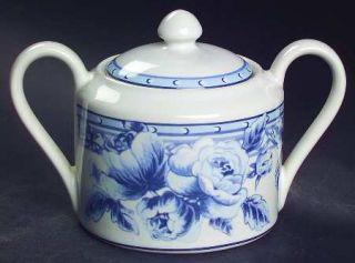 Interiors (PTS) Cottage Rose Sugar Bowl & Lid, Fine China Dinnerware   Stoneware