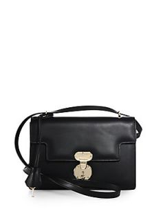 Giorgio Armani Flap Shoulder Bag   Solid Black