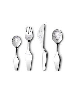 Georg Jensen The Twist Family Kids Four Piece Cutlery Set   No Color