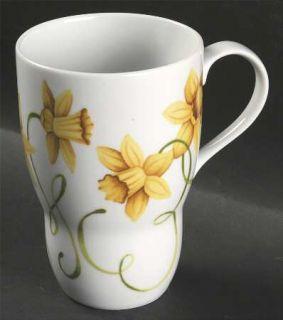Westbury Court Lyrical Blooms Mug, Fine China Dinnerware   Different Flower On E