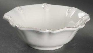 Juliska Ceramics Berry & Thread Whitewash Fruit/Dessert (Sauce) Bowl, Fine China