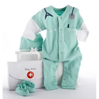 Baby Aspen Big Dreamzzz Baby M.d. 3 piece Layette Set (Newborn to 6 monthsMaterials CottonBox measures 9.25 inches high x 6 inches wide x 2 inches deep )