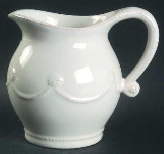 Juliska Ceramics Berry & Thread Whitewash Creamer, Fine China Dinnerware   Rusti