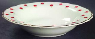 WS George Blushing Rose Rim Fruit/Dessert (Sauce) Bowl, Fine China Dinnerware